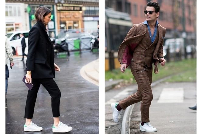 Девушка и парень в кроссовках